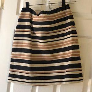Brown stripped skirt